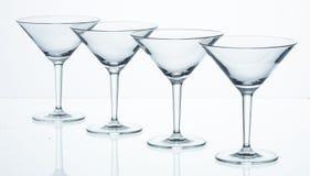 马蒂尼鸡尾酒玻璃  免版税图库摄影
