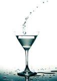 马蒂尼鸡尾酒玻璃 库存图片