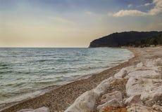马蒂纳塔- Gargano石渣海滩  免版税图库摄影