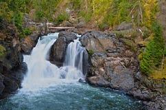 马蝇河更低的秋天, BC,加拿大 库存照片