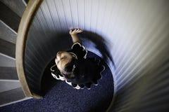 洛马角历史的灯塔的小女孩 免版税库存照片