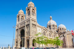 马赛中篇小说主要大教堂  免版税库存照片