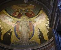 马赛克在一个小教会,圣诞老人Prassede里,在罗马意大利 图库摄影