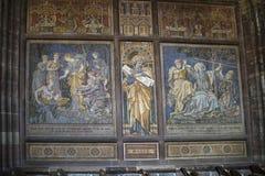 马赛克在大教堂或大教堂里在彻斯特英国 库存照片