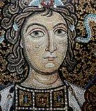 马赛克在诺曼底人的宫殿,巴勒莫,西西里岛,意大利 图库摄影