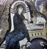 马赛克在诺曼底人的宫殿,巴勒莫,西西里岛,意大利 免版税库存照片