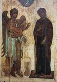 马赛克在Mirozhsky修道院,普斯克夫,俄罗斯里 库存照片