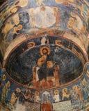 马赛克在Mirozhsky修道院,普斯克夫,俄罗斯里 库存图片