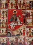 马赛克在Neredica,诺夫哥罗德,俄罗斯的救主教会里  库存照片