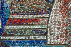 马赛克墙壁纹理 免版税库存照片