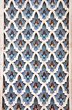 马赛克墙壁细节在哈桑二世清真寺,卡萨布兰卡,摩洛哥 库存照片
