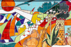 马赛克墙壁艺术 库存照片