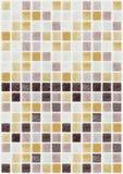 马赛克大理石瓦片色的正方形 免版税库存照片