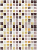 马赛克大理石瓦片色的正方形 库存照片