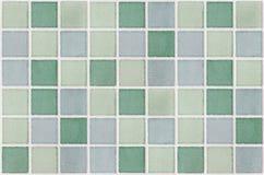 马赛克大理石瓦片绿色正方形 免版税库存照片