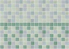 马赛克大理石瓦片绿色正方形 库存图片