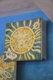 马赛克太阳墙壁装饰品 免版税库存照片