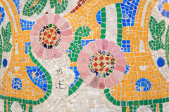 马赛克安东尼奥Gaudi,帕劳de la Musica,巴塞罗那,西班牙 免版税库存照片