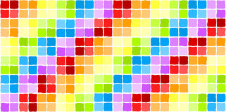 马赛克彩虹无缝的瓦片 库存图片