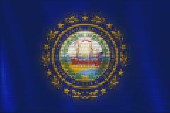 马赛克心脏新罕布什尔旗子瓦片绘画  库存例证