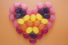 马赛克心脏糖果 库存图片