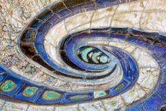马赛克漩涡墙壁 免版税图库摄影
