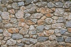 马赛克石墙背景 免版税库存照片