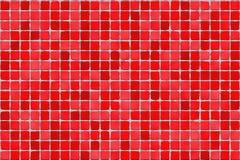 马赛克红色瓦片 免版税库存图片