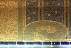 马赛克细节在La鱼的艺术馆的和产业,鲁贝法国 库存图片