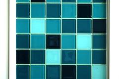 马赛克蓝色口气墙纸 库存照片