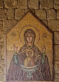 马赛克象7 10在Ialysos上城这被找到在Philerimos附近小山在Ialysos罗得岛 图库摄影