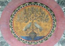 马赛克,圣保罗在墙壁外,罗马大教堂  图库摄影