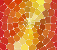 马赛克黄色和橙色石头在白色背景连续放置了 免版税库存图片