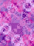 马赛克紫色正方形纹理 库存照片