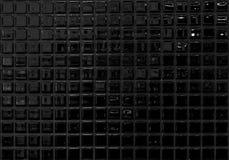 黑马赛克 免版税库存照片