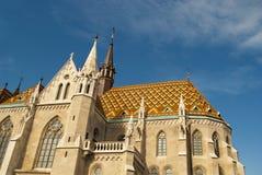 马赛厄斯教会在布达佩斯(匈牙利) 库存照片