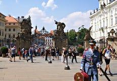 马赛厄斯门,在Hradcany广场,布拉格 免版税库存图片