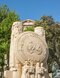 马赛历史的战争纪念建筑在南法国 免版税库存照片