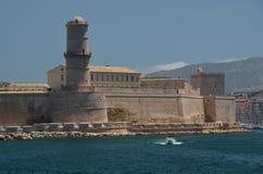 马赛城堡,对口岸的词条 免版税库存照片