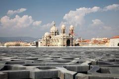 马赛大教堂 库存图片