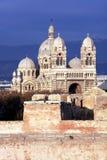 马赛大教堂 库存照片