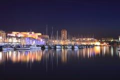 马赛旧港口 库存照片