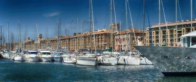 马赛旧港口 图库摄影