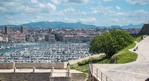马赛旧港口  免版税库存图片