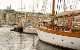 马赛旧港口vieux 库存图片