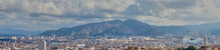 马赛法国全景  免版税库存图片