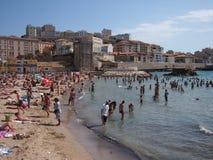 马赛海滩在夏天 库存照片