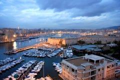 马赛港口 库存照片