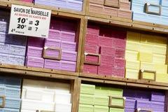马赛肥皂也叫Savon de马赛 免版税库存照片