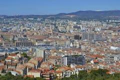 马赛都市风景 免版税库存照片